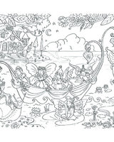 Fairy Boat Doodles with pens