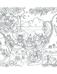 Image of Fairy Boat Doodles with pens