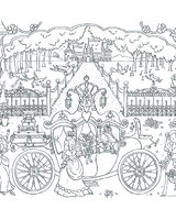 Princess Carriage Doodles with Pens