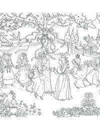 Image of Princess Garden Doodles with Pens