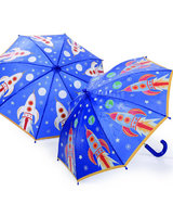 Colour changing umbrella rocket design