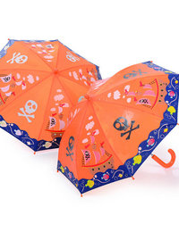 Image of Colour Changing umbrella with pirate ship design