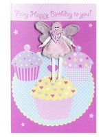 'Fairy Happy Birthday' Fairy Cakes Card