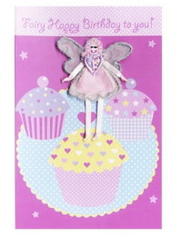 Image of 'Fairy Happy Birthday' Fairy Cakes Card