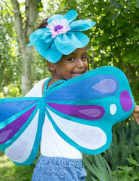 Image of Felt Applique Wings and Headband Set