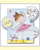Ballerina Bubbles Card