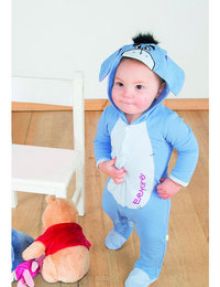 Image of Eeyore Jersey Romper with Hood