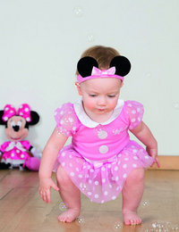 Image of Minnie Mouse Pink Bodysuit with Headband