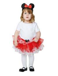 Image of Red Minnie Tutu and Headband