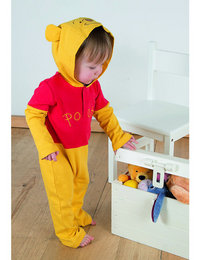 Image of Winnie the Pooh Jersey Romper with Hood