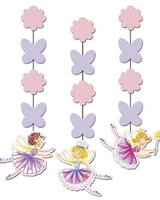 Garden Fairy Dangling Cut-outs - pack of 3