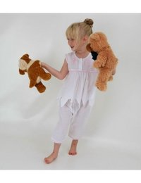Image of White Cotton Fairy Pyjamas