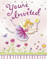 Garden Fairy Invitations - pack of 8