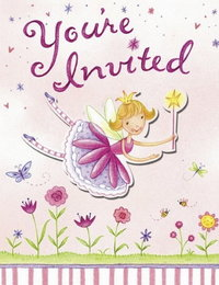 Image of Garden Fairy Invitations - pack of 8