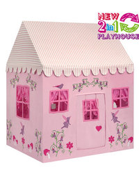 Image of 2 in 1 Enchanted Garden and Fairy Woodland  Playhouse