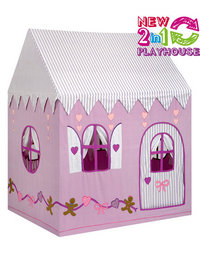 Image of 2 in 1 Gingerbread Cottage and Sweet Shop Playhouse