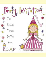 Princess Invitations - pack of 8