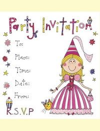 Image of Princess Invitations - pack of 8