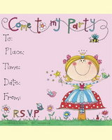 Party Fairy Invitations - pack of 8