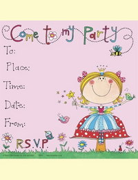 Image of Party Fairy Invitations - pack of 8