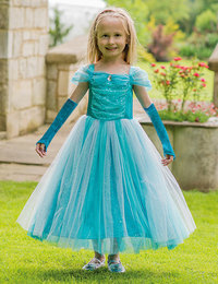 Image of Turquoise Sparkle Princess with Gloves